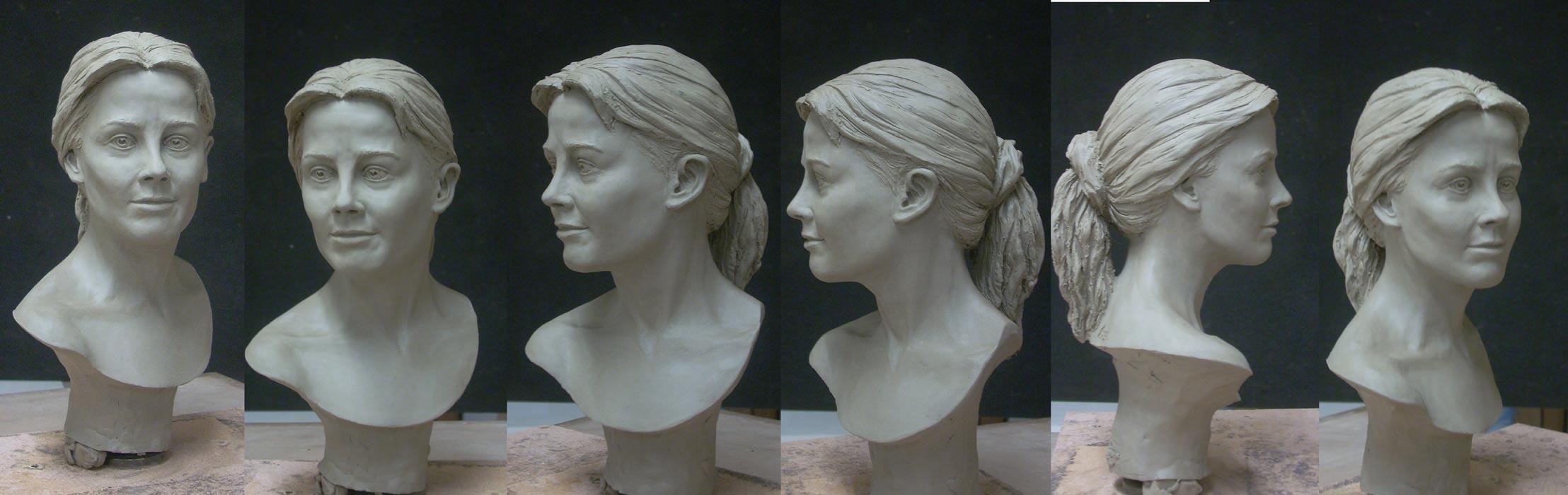 """Mes premières """"vraies """"sculptures ... Buste-S"""